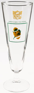 Football Collectibles:Others, Circa 1960's Green Bay Packers Pilsner Glass....