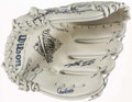 Baseball Collectibles:Others, 1992 Toronto Blue Jays Signed Glove (36 Signatures) - World SeriesChampions!...