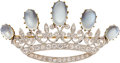 Estate Jewelry:Brooches - Pins, Antique Moonstone, Diamond, Platinum-Topped Gold, Gold Brooch, Black, Starr & Frost. ...