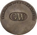 "Political:Inaugural (1789-present), George Washington: ""GW in Oval"" Inaugural Button...."
