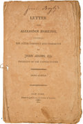 Political:Small Paper (pre-1896), Election of 1800: Anti-Adams Tract by Alexander Hamilton....