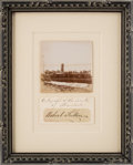 Autographs:Inventors, Robert Fulton: Framed Signature Display....