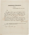Political:Small Paper (pre-1896), [De Witt Clinton]: Election of 1812 Electoral College Document. ...