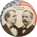 "Political:Pinback Buttons (1896-present), Bryan & Sewall: Jugate ""Our Choice"" Stud...."