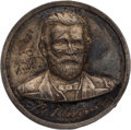 Political:Ribbons & Badges, Ulysses S. Grant: Silvered Brass Shell....