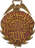 Political:Inaugural (1789-present), Grover Cleveland: Ornate 1893 Presidential Aide Inauguration Badge....