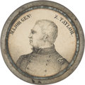 Political:3D & Other Display (pre-1896), Zachary Taylor: Ultra Rare Variety Pewter Rim Medallion....