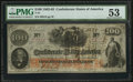 Confederate Notes:1862 Issues, T41 $100 1862 PF-25 Cr. 318A.. ...
