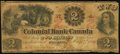 Canadian Currency, Toronto, CW- Colonial Bank of Canada $2 May 4, 1859 Ch. #130-10-04-04. ...