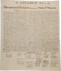 Miscellaneous:Ephemera, William J. Stone for Peter Force: The Declaration of Independence. ...