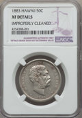 Coins of Hawaii , 1883 50C Hawaii Half Dollar -- Improperly Cleaned -- NGC Details.XF. NGC Census: (52/415). PCGS Population: (108/590). CDN...