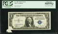 Error Notes:Foldovers, Fr. 1607 $1 1935 Silver Certificate. PCGS About New 50PPQ.. ...