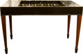 Furniture : French, An Empire-Style Inlaid and Ebonized Mahogany Tric Trac GamesTable,. mid-20th century. 29-1/2 h x 44 w x 22-1/2...