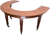 An English Regency Mahogany Social Table or Hunt Table, early 19th century 29-1/2 h x 36 w x 37-1/2 d inches (74.9