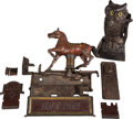 Antiques:Toys, Mechanical Banks (Two): Trick Pony and Owl.... (Total: 2 Items)