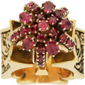 Estate Jewelry:Rings, Ruby, Diamond, Gold Ring, Fred Roberts. ...