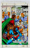 Original Comic Art:Miscellaneous, Icon #6 and 35 Color Production Art Original Art Group of 5(DC/Milestone, 1993/1996).... (Total: 5 Original Art)