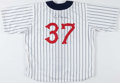 Baseball Collectibles:Uniforms, 1998 Troy Beamon Game Worn Detroit Tigers Throwback Jersey with Team Letter....