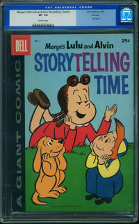 Dell Giant Comics Marge's Little Lulu & Alvin Story Telling Time - FILE COPY (Dell, 1959) CGC VF- 7.5 Off-white page...