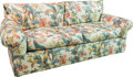 Furniture , A Floral Print Upholstered Sofa, 20th century. 35 h x 75 w x 35 d inches (88.9 x 190.5 x 88.9 cm). ...