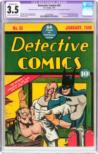 Detective Comics #35 (DC, 1940) CGC Apparent VG- 3.5 Extensive (P) Cream to off-white pages