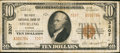 National Bank Notes:Kansas, Sterling, KS - $10 1929 Ty. 2 The First NB Ch. # 3207. ...