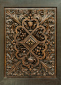 Decorative Arts, Continental, A Continental Carved Oak Panel with Bacchanal Motifs, early 20thcentury. 30 inches high x 25 inches wide (76.2 x 63.5 cm). ...