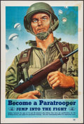"Movie Posters:War, World War II Propaganda (Recruiting Publicity Bureau of the UnitedStates Army, 1944). Recruiting Poster (17"" X 25""). ""Becom..."