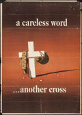 "Movie Posters:War, World War II Propaganda (U.S. Government Printing Office, 1943).OWI Poster No. 23 (28.5"" X 39.75"") ""A Careless Word....Anot..."