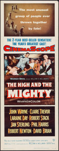 """Movie Posters:Adventure, The High and the Mighty (Warner Brothers, 1954). Insert (14"""" X36""""). Adventure.. ..."""