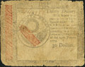 Continental Currency January 14, 1779 $30 Very Good