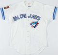 Baseball Collectibles:Uniforms, 1994 Pat Borders Game Worn Toronto Blue Jays Jersey. ...