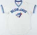 Baseball Collectibles:Uniforms, 1982 John Mayberry Game Worn Toronto Blue Jays Jersey. ...