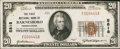National Bank Notes:Pennsylvania, Barnesboro, PA - $20 1929 Ty. 1 The First NB Ch. # 5818. ...