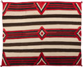 American Indian Art:Weavings, A Navajo Third Phase Chief's Style Blanket. c. 1940...