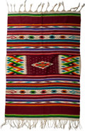 American Indian Art:Weavings, A Mexican Saltillo-Style Blanket. ...