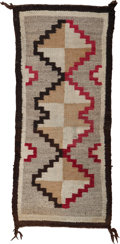 American Indian Art:Weavings, A Small Navajo Regional Rug. ...