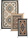 American Indian Art:Weavings, Three Contemporary Navajo Regional Rugs. Two Gray Hills... (Total:3 Items)
