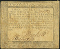 Colonial Notes, Maryland August 14, 1776 $2 2/3 Very Good....