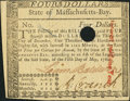 Colonial Notes, Massachusetts May 5, 1780 $4 Extremely Fine, HOC...