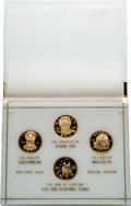 """China:People's Republic of China, China: People's Republic Four-Piece gold Proof """"Gods and Goddesses"""" Set 1988-1989,... (Total: 4 coins)"""