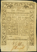 Colonial Notes, Rhode Island May 1786 10s Choice About New.. ...