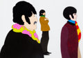 Animation Art:Production Cel, The Beatles Yellow Submarine John, Paul, and GeorgeProduction Cel Setup (King Features, 1968).... (Total: 2 )