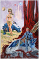 Wayne Boring - Sci-Fi Painting Original Art (1980) One of the top artists on both the Superman comic and comic strip, Wa...