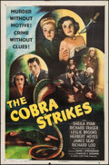 "Movie Posters:Crime, The Cobra Strikes (Eagle Lion, 1948). One Sheet (27"" X 41"").Crime.. ..."