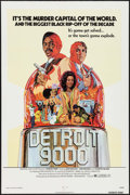 "Movie Posters:Blaxploitation, Detroit 9000 (General Film, 1973). One Sheet (27"" X 41"").Blaxploitation.. ..."