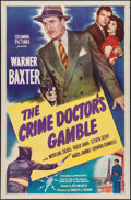 "Movie Posters:Mystery, The Crime Doctor's Gamble (Columbia, 1947). One Sheet (27"" X 41"").Mystery.. ..."
