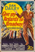 """Movie Posters:Musical, Give My Regards to Broadway (20th Century Fox, 1948). One Sheet (27"""" X 41""""). Musical.. ..."""