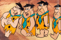 Animation Art:Production Cel, The Flintstones Fred Production Cel Sequence of 4(Hanna-Barbera, c. 1962)....