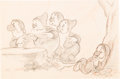 Animation Art:Production Drawing, Snow White and the Seven Dwarfs Grumpy, Sneezy, and OtherDwarfs Animation Drawings Group of 10 (Disney; 1937)... (Total: 10Original Art)